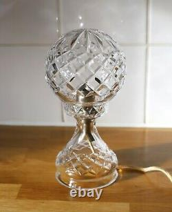 Vintage Cut Lead Crystal Glass Lamp Base and Shade Electrics Fully Working