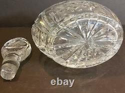 Vintage Imperlux Germany Heavy Cut Etched Flower Lead Crystal Decanter WithStopper