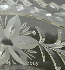 Vintage Imperlux hand cut lead crystal bowl. Three footed. Germany. VG