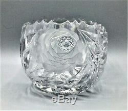 Vintage Lead Crystal Cut Glass Bowl 8-1/2 by 5-1/4