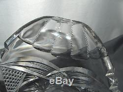 Vintage Lead Cut Glass American Brilliant Pitcher Ornate Crystal Many Patterns
