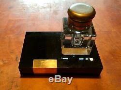 Vintage Montblanc Hand-cut Lead Crystal Inkwell, Made In Germany