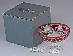 WATERFORD CLARENDON RUBY Cut-to-Clear Compote UNUSED Original Box QUICK SHIP