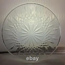 WATERFORD LISMORE Cut Lead Crystal 12.5 Cake Plate Signed