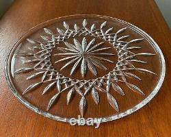 WATERFORD LISMORE Cut Lead Crystal 12.5 Cake Plate Signed with Box