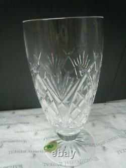 WATERFORD PATTERNS OF THE SEA Set of 6 Iced Beverage Glasses Cut Lead Crystal