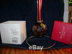 Waterford 1999 Ruby Red Lead Crystal Cut Ball Ornamentrarea Real Collectable