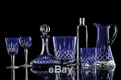 Waterford Cobalt Blue Cut To Clear Cased Crystal CLARENDON Wine Hock Goblet 2