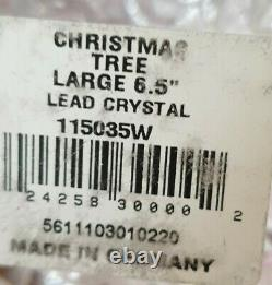 Waterford Lead Crystal Cut Glass Christmas Tree. 6 1/2in high with original box