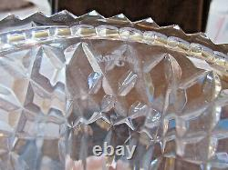 Waterford Lismore Cut Lead Crystal Ships Decanter withStopper Marked