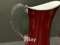 Waterford Stunning Lismore Ruby Red Cased Cut To Clear Pitcher
